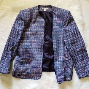 Vintage Talbots No Button Tweed Blazer